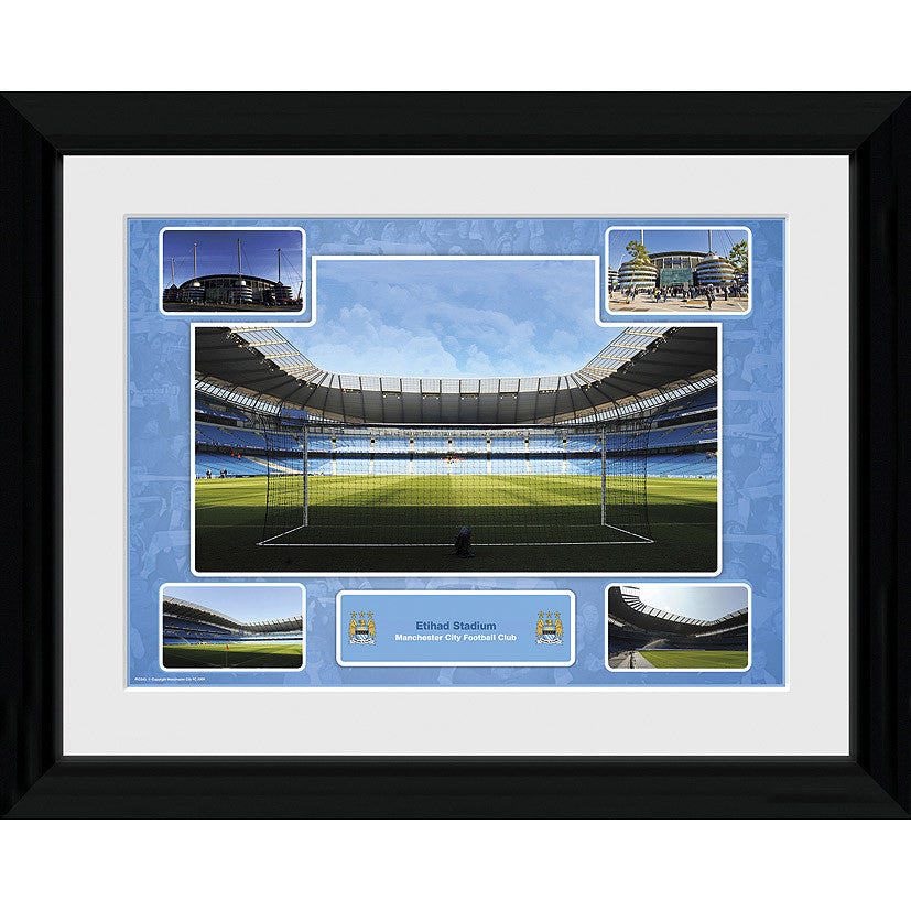"Manchester City FC Etihad Stadium Framed Picture - 16""x12"""