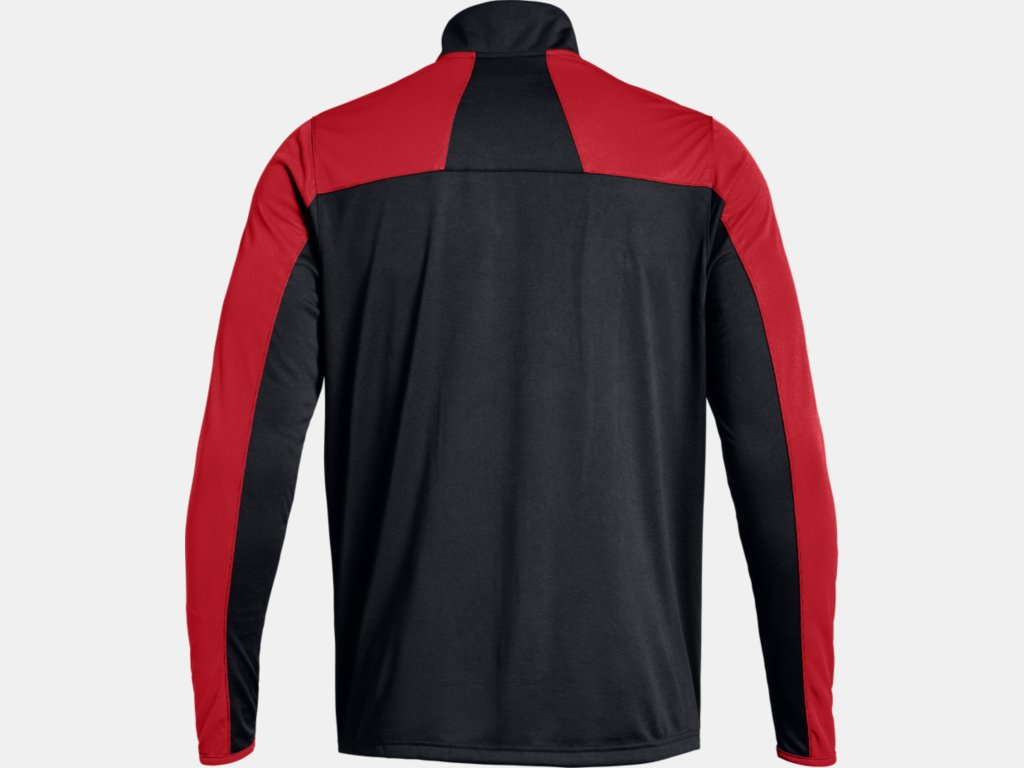 Novelty 1/4 Zip - Black/Red