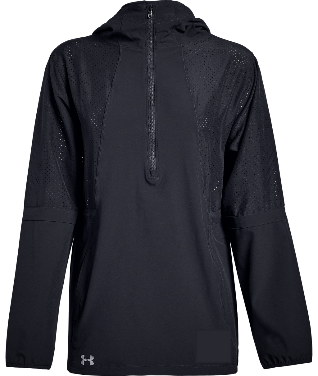 Squad Woven 1/2 Zip Hooded Women's Jacket - Black