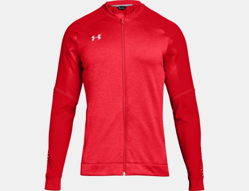 Men's Qualifier Hybrid Warm-Up Jacket - Red