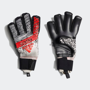 Predator Pro FS Gloves -Silver Metallic / Black / Hi-Res Red