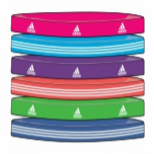 Women's Sidespin Hairband 6 Pack - Fresh Pink/Fresh Splash/Royal/Aero Red/Intense Green/Aero Blue