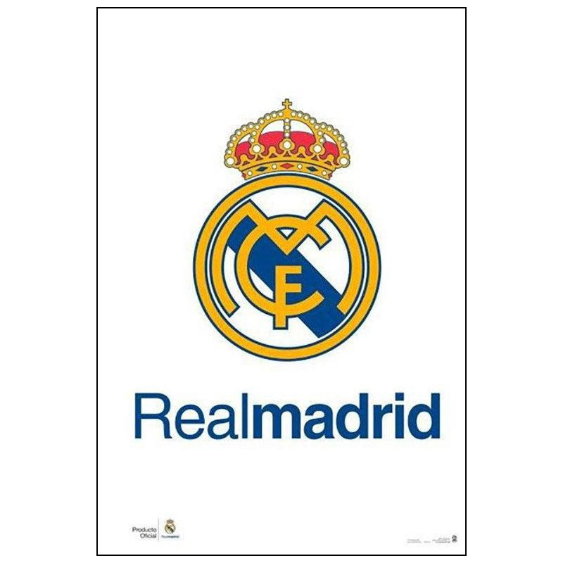 Real Madrid Club Crest Poster - Licensed