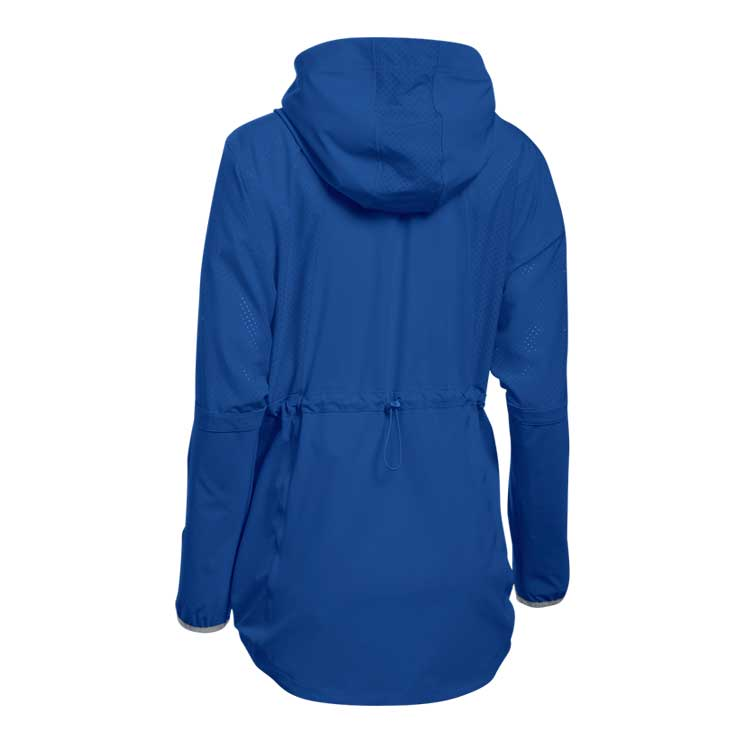 Squad Woven 1/2 Zip Hooded Women's Jacket - Royal