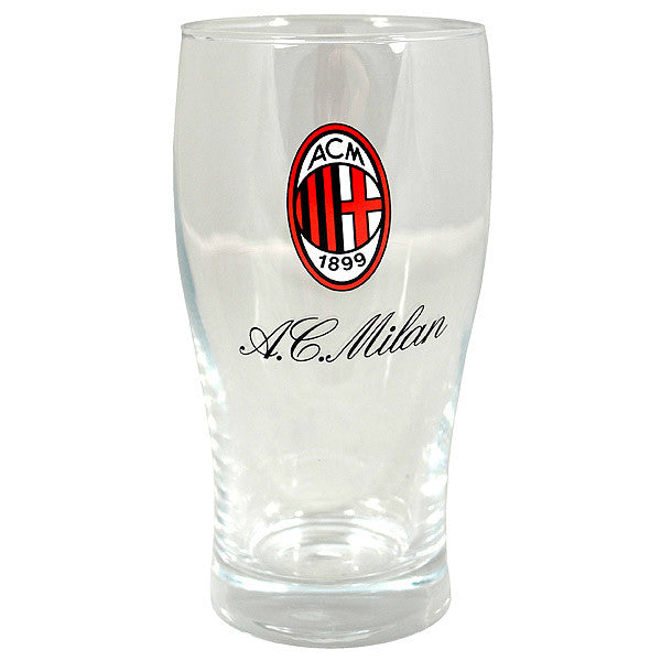 AC Milan Wordmark Pint Glass