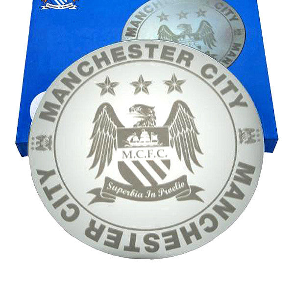"Manchester City Club Etched Mirror - 16""x16"""
