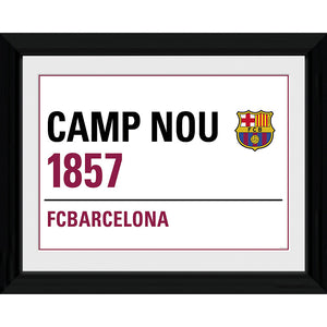 "FCB Framed Street Sign  - 16""x12"""