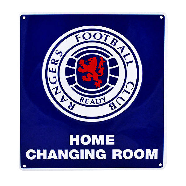 Rangers Home Changing Room Sign