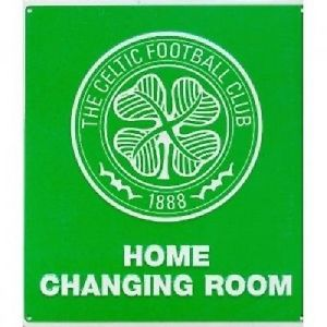 Celtic FC Home Changing Room Sign