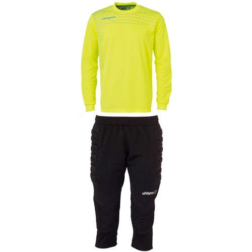 Match Junior Goalkeeper Set - Yellow/Cyan