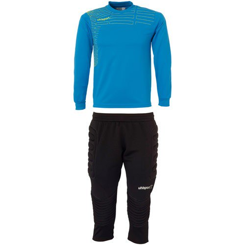 Match Junior Goalkeeper Set - Cyan/Yellow