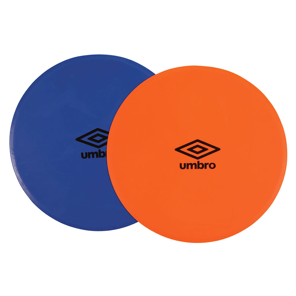 Flat Training Markers - Blue/Orange 12 Pack