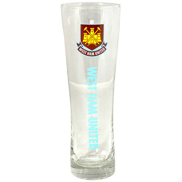 West Ham United FC Slim Pint Glass