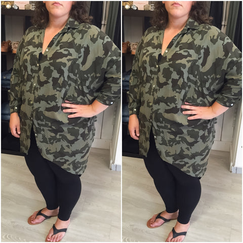 Oversized Army Blouse