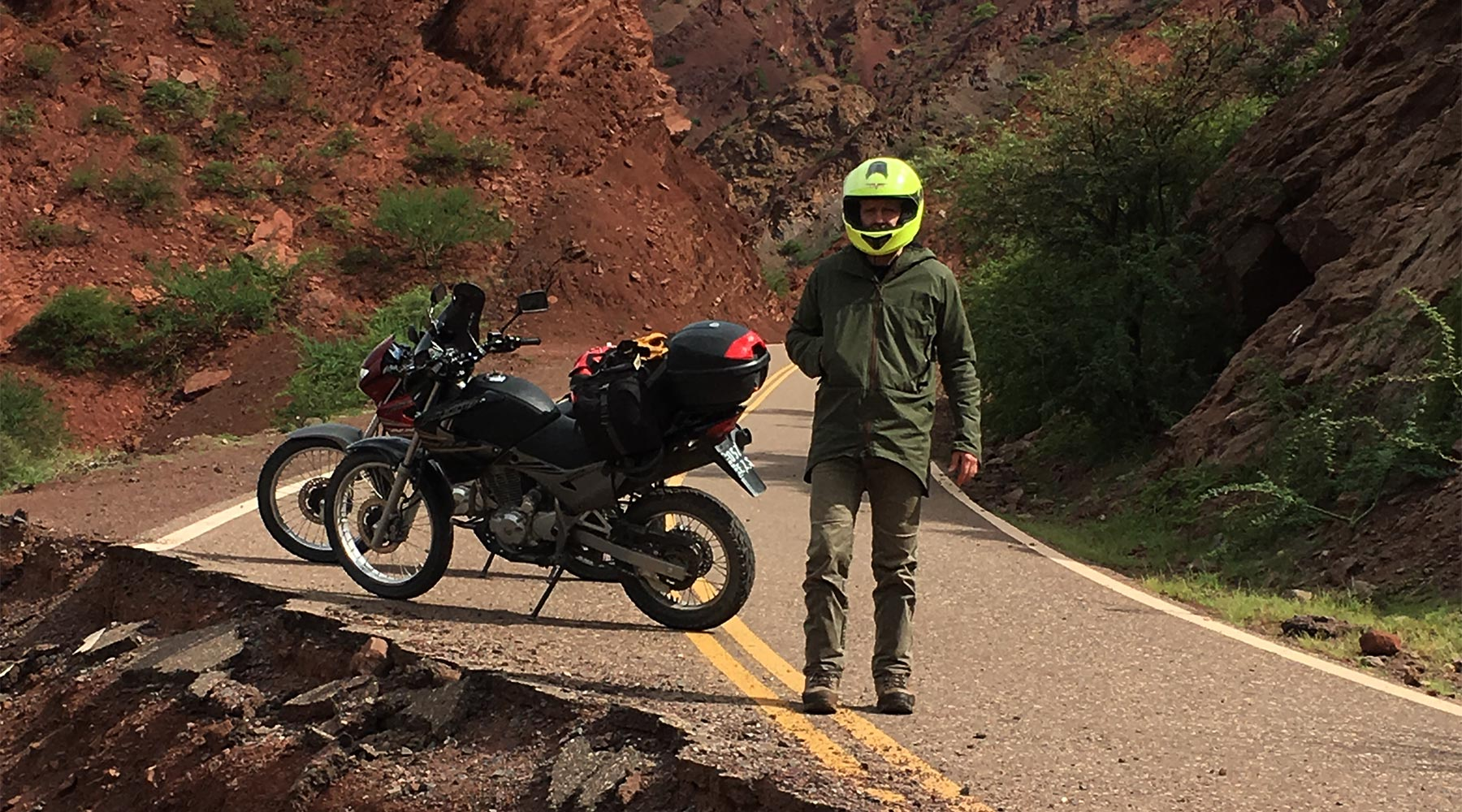 Ventile jacket testing in Patagonia on two wheels