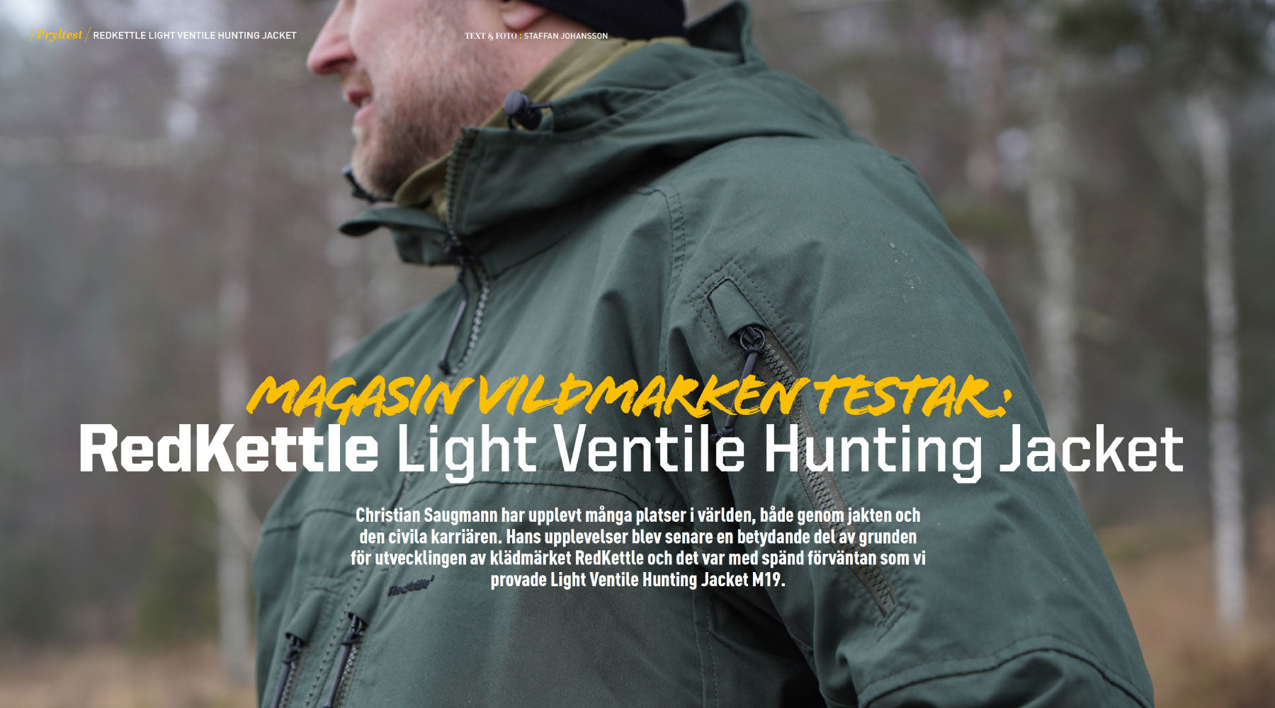 "We're proud: Ventile jacket review in ""Vildmarken"""