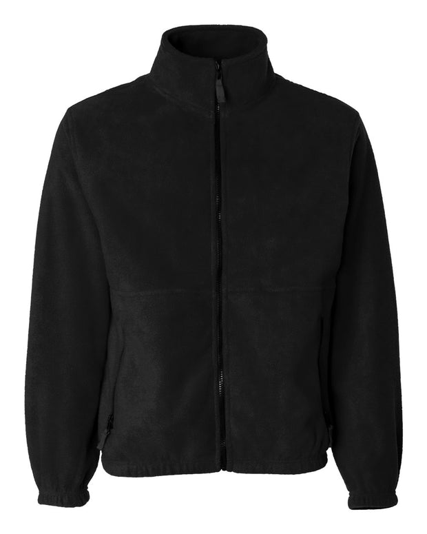 Adult Anti-Pill Full-Zip Fleece Jacket with Bulldog Embroidery