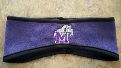 TWO COLOR FLEECE EAR WARMERS WITH #20 EMBROIDERY
