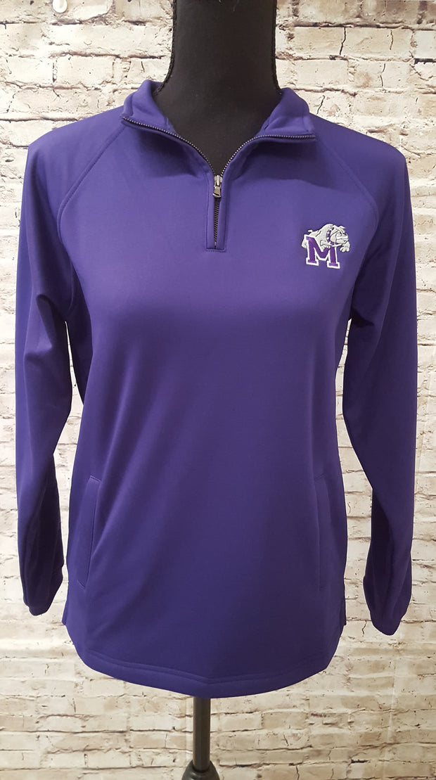 Adult Quarter Zip Sweatshirt/Pullover with Bulldog Embroidery - Southland Graphics