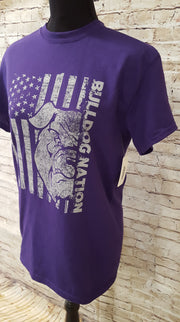 Adult Bulldog Nation Flag Spirit Shirt - Southland Graphics
