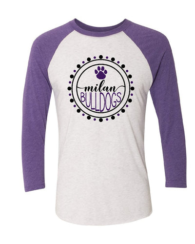 Youth Girly Milan Bulldog Tee (3 Quarter Sleeve)