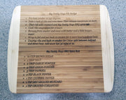 Hand Written Recipes Cutting Boards