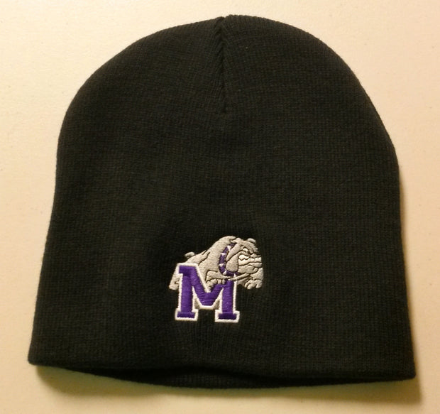 SOLID COLOR BEANIE WITH #20 EMBROIDERY