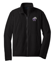Adult Micro Fleece Full Zip Jacket with Bulldog Embroidery - Southland Graphics
