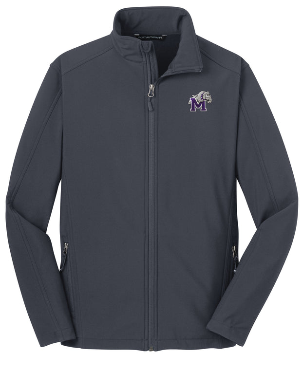 Soft Shell Full Zip Jacket with Bulldog Embroidery - Southland Graphics