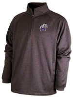 Youth Quarter Zip Sweatshirt with Bulldog Emdroidery