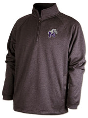 Adult Quarter Zip Sweatshirt/Pullover with Bulldog Embroidery