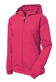 Sport-Tek Ladies Colorblock Hooded Raglan Jacket
