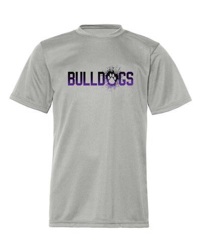 Bulldogs Splatter - Adult Moisture Wicking Short Sleeve