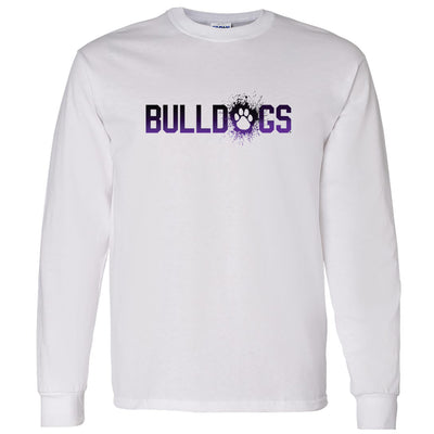 Bulldogs Splatter - Adult Long Sleeve
