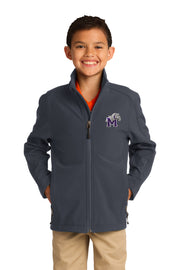 Youth Soft Shell Full Zip Jacket with Bulldog Embroidery