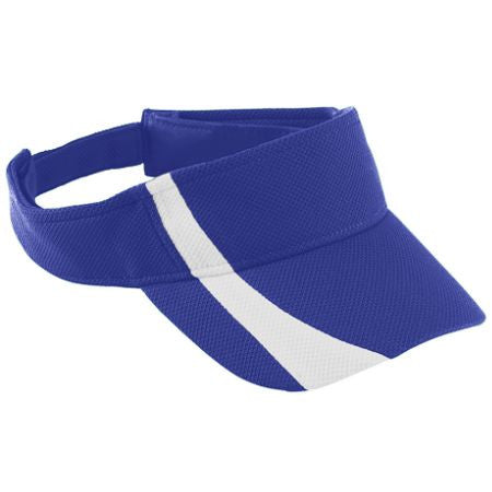Adult Adjustable Wicking Mesh Two-Color Visor with M Design - Southland Graphics
