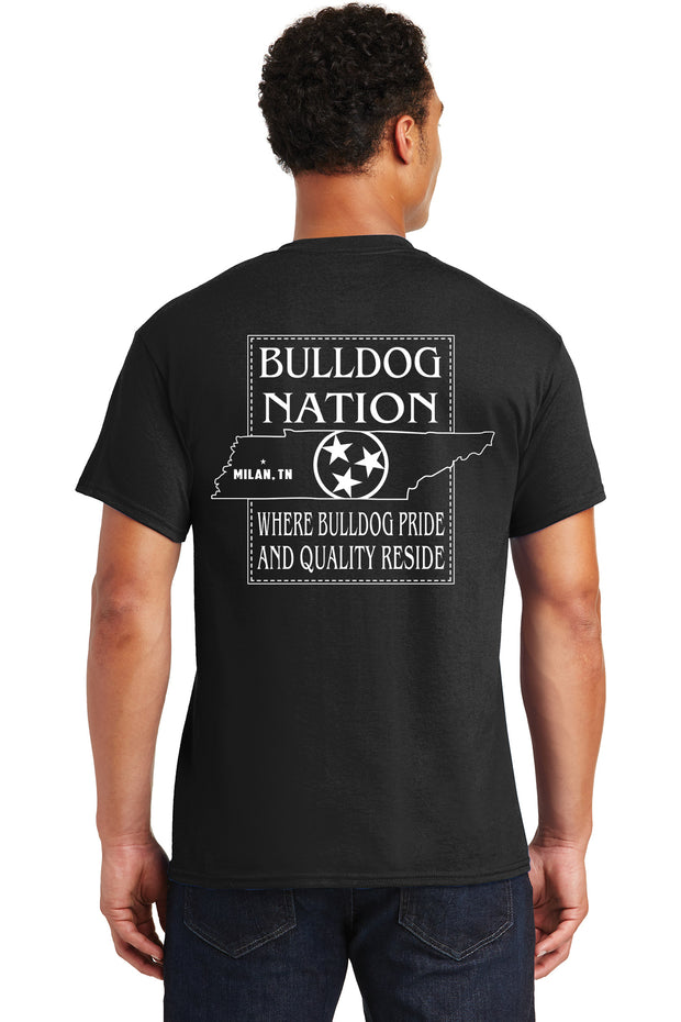 Adult Bulldog Nation Tri-Star Spirit Shirt (Moisture Wicking)