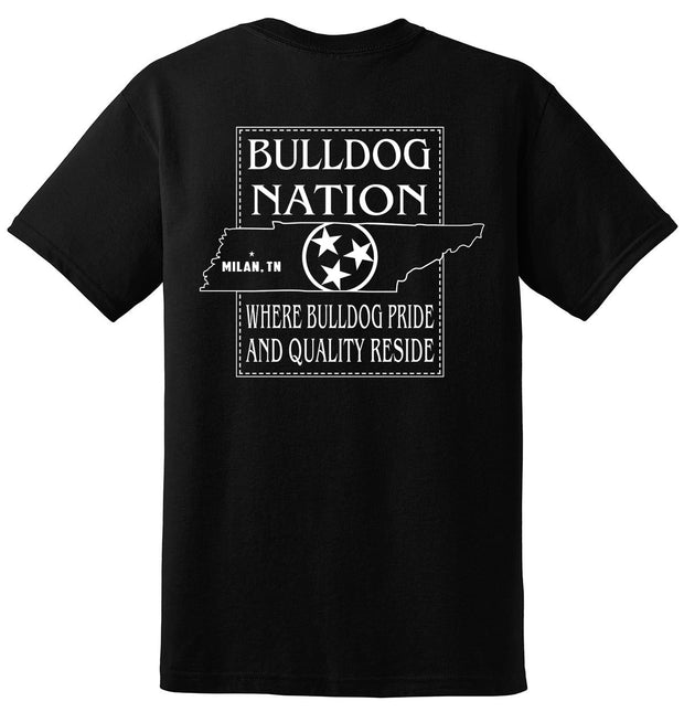 Youth Bulldog Nation Tri-Star Spirit Shirt