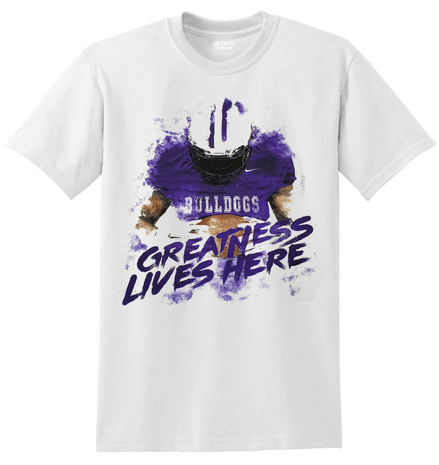Adult Greatness Lives Here Spirit Shirt