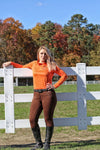 Curvy Mare | Winter Breech | Mocha + Mocha | Side Phone Pocket