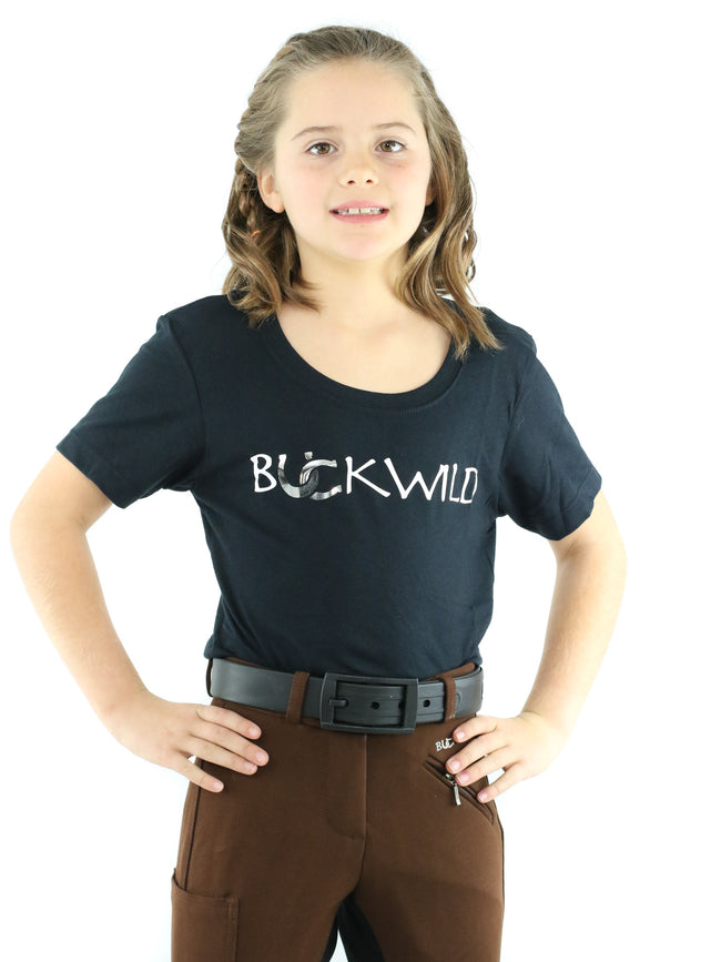 Kid's Mid-Waist Breech | Mocha + Black | Side Phone Pocket