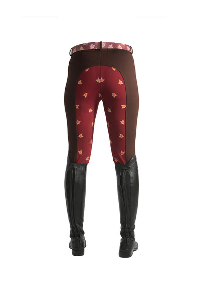 Curvy Mare High-Waist Breech | Mocha Brown + Fox