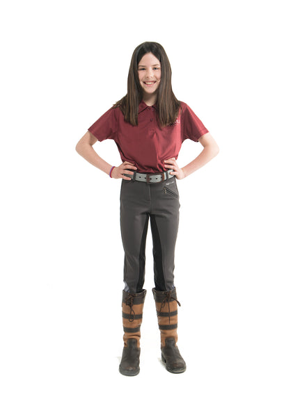 Kid's Signature Mid-Waist Breech | Gray + Black