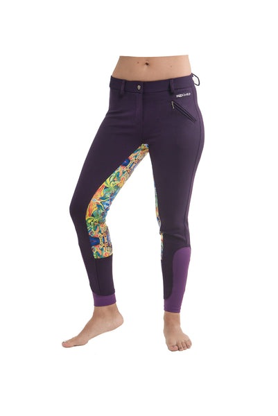Curvy Mare High-Waist Breech | Purple + Painted Ponies