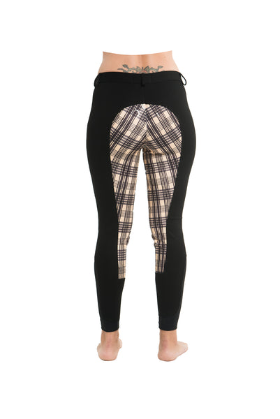 Curvy Mare High-Waist Breech | Black + Plaid