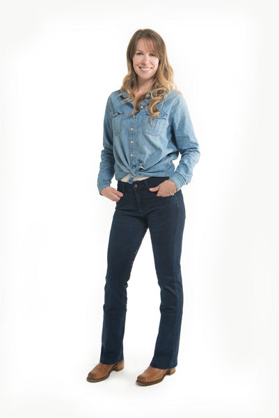 Signature Mid-Waist Breech | Western Breech | Blue Butterflies