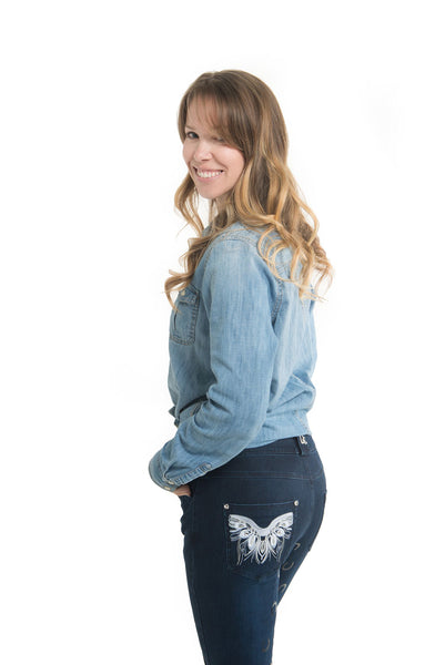 Curvy Mare Western Breech | Blue Butterflies