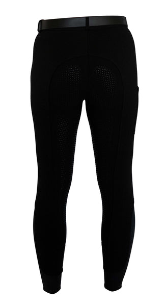 "Signature Mid-Waist Breech | Black + Black ""with Front Side Pocket"""