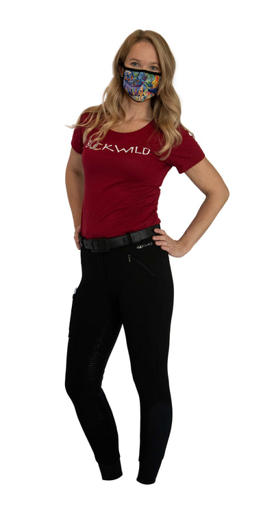 Signature Mid-Waist Winter Breech | Black + Black | Side Pocket