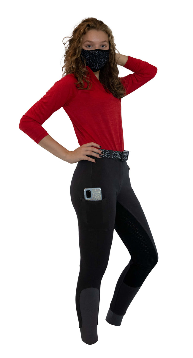 Buckwild Curvy High-Waist Breech Gray